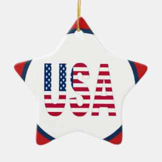 USA Star Dated Ornament