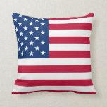 USA Star Flag Throw Pillow