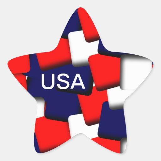 USA Star Star Stickers