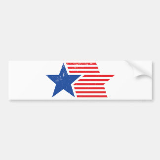 USA Star & Stripes Bumper Sticker