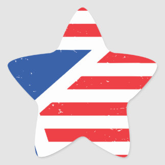 USA Star & Stripes Star Sticker