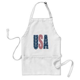 USA Stars and Stripes Apron
