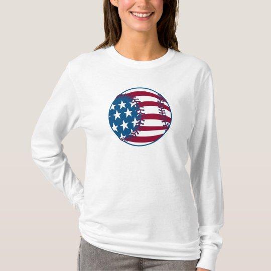 USA Stars and Stripes Baseball T-Shirt
