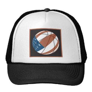 usa stars and stripes basketball trucker hat