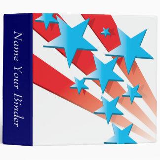 USA Stars and Stripes Binder Binders