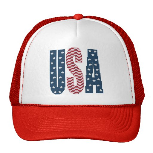 USA Stars and Stripes Cap Mesh Hat