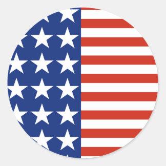USA Stars And Stripes Flag Classic Round Sticker