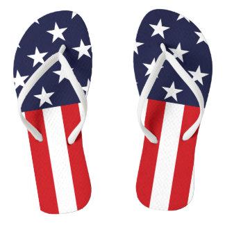 USA Stars and Stripes Flip Flops