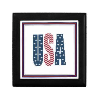 USA Stars and Stripes Gift Box