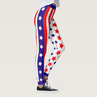 USA Stars and Stripes Leggings