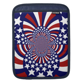 USA Stars and Stripes Patriotic Design Sleeve For iPads