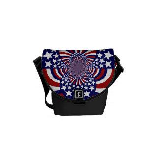 USA Stars and Stripes Patriotic Design Messenger Bag
