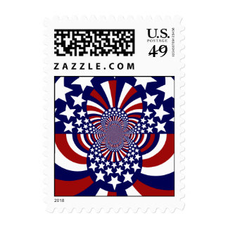 USA Stars and Stripes Patriotic Design Stamps