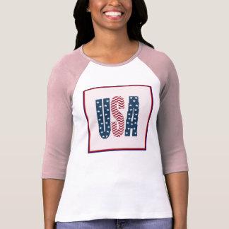 USA Stars and Stripes Pink Shirt