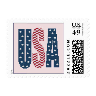 USA Stars and Stripes Postage