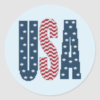 USA Stars and Stripes Stickers