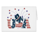USA Stars and Stripes T-shirts and Gifts Card