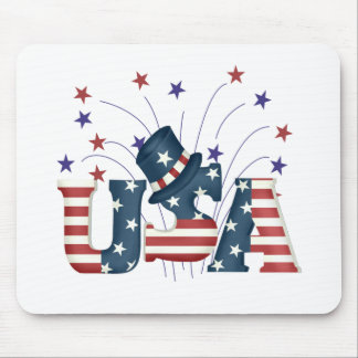 USA Stars and Stripes T-shirts and Gifts Mouse Pad