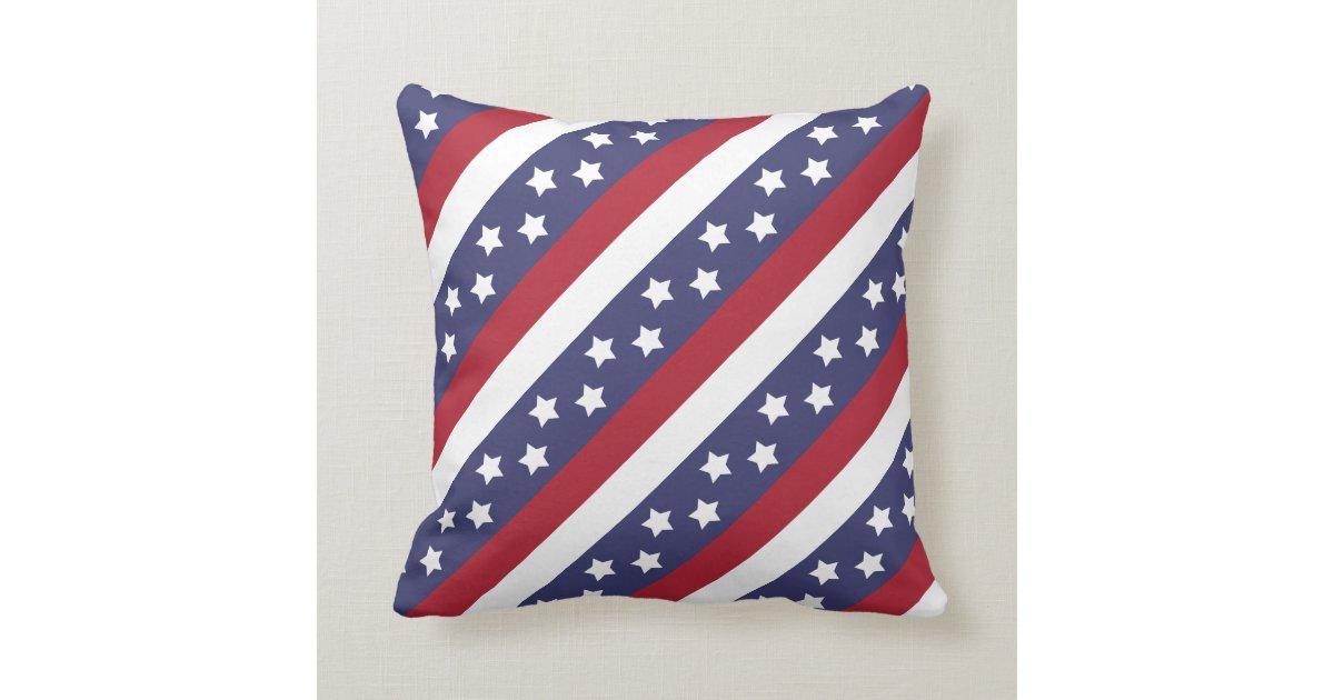 Throw Pillows Usa : USA Stars and Stripes Throw Pillow Zazzle