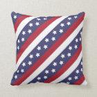 USA Stars and Stripes Throw Pillow