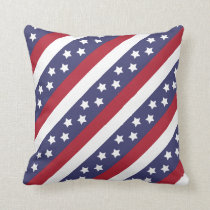USA Stars and Stripes Throw Pillow