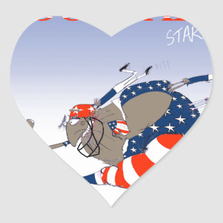 USA stars and stripes, tony fernandes Heart Sticker