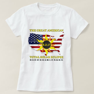 USA Stars and StripesTotal Solar Eclipse of 2017 T-Shirt
