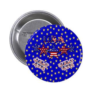 USA Stars Button