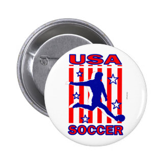 USA Stars N Stripes Soccer Button