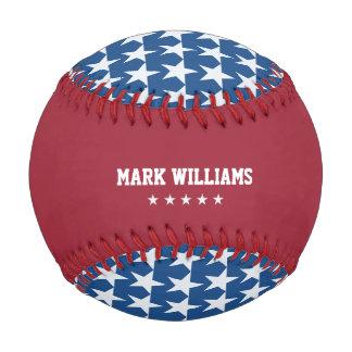 USA stars personalized Baseball