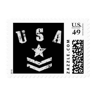 USA Stars & Stripes Stamp