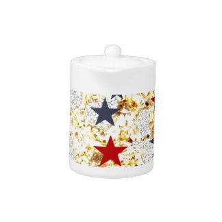 USA STARS TEAPOT