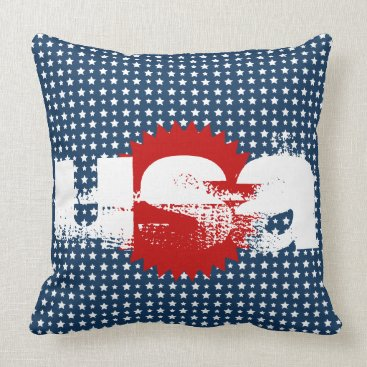 USA Themed USA Stars Throw Pillow