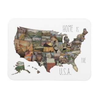 USA State Collage Magnet