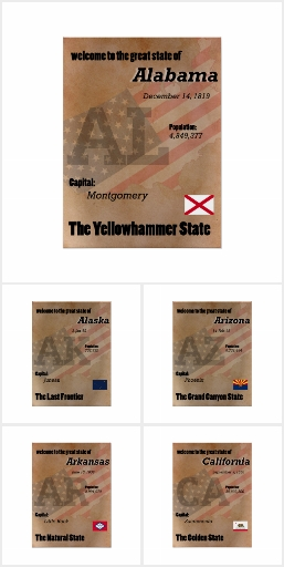 USA State Posters