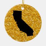 USA States California - SRF Christmas Ornaments