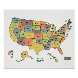 Usa Map Gifts On Zazzle - Map of usa with states