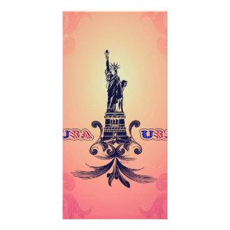 USA Statue of Liberty Photo Card