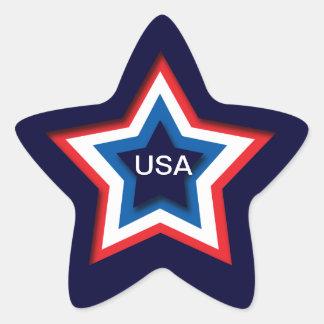 USA STAR STICKER
