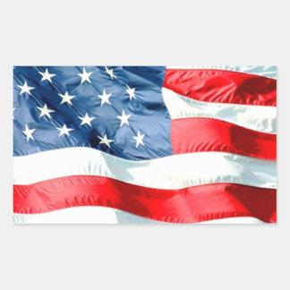 USA RECTANGLE STICKERS