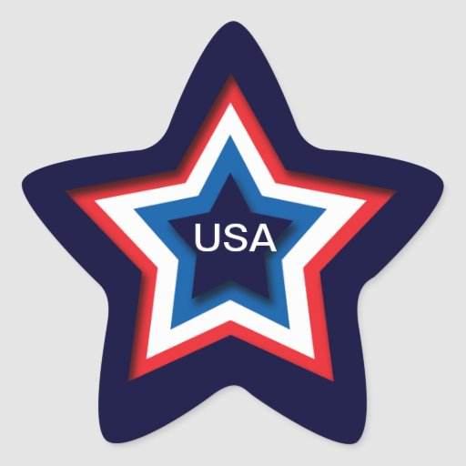 USA STAR STICKERS