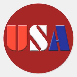 USA Stickers - (dark red)