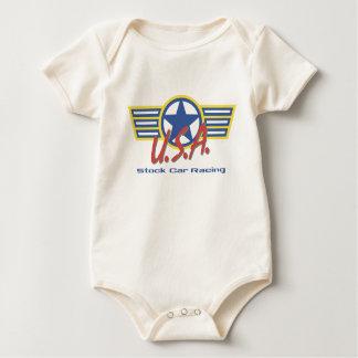 USA Stock Car Racing Baby Bodysuit