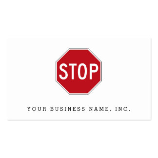 USA Stop Sign Double-Sided Standard Business Cards (Pack Of 100)