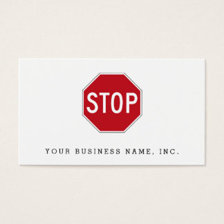 USA Stop Sign Business Card