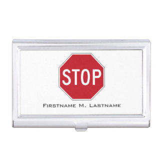 USA Stop Sign Business Card Holder