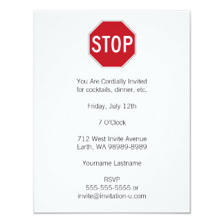 USA Stop Sign Card