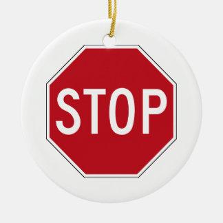 USA Stop Sign Christmas Tree Ornament