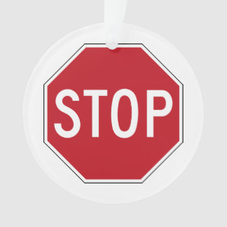 USA Stop Sign Ornament