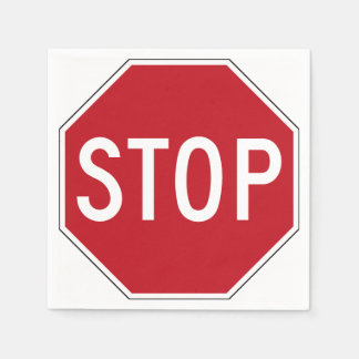 USA Stop Sign Paper Napkin